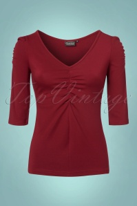 Vixen Von Teese Shirt in Burgundy 113 20 22035 20170821 0003w