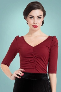 Vixen Von Teese Shirt in Burgundy 113 20 22035 20170821 01