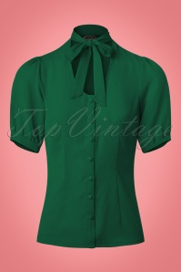 Vixen Cora Neck Blouse in Green 112 40 22038 20170821 0007w