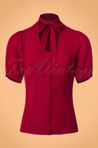 Vixen Cora Neck Blouse in Red 112 20 22037 20170821 0007w