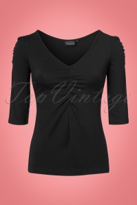 Vixen Von Teese Shirt in Black 113 10 22031 20170821 0003w