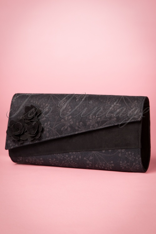 Ruby Shoo Black Oxford Clutch 210 10 21429 20170816 0017W