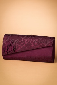50s Oxford Clutch in Burgundy