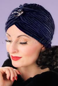 Vixen Navy Velvet Turban 202 31 22081 17062013 004W
