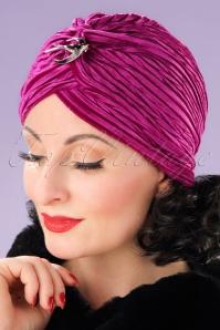 Vixen Fuchsia Velvet Turban 202 22 22082 17062013 005W