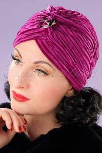 Vixen Fuchsia Velvet Turban 202 22 22082 17062013 004W