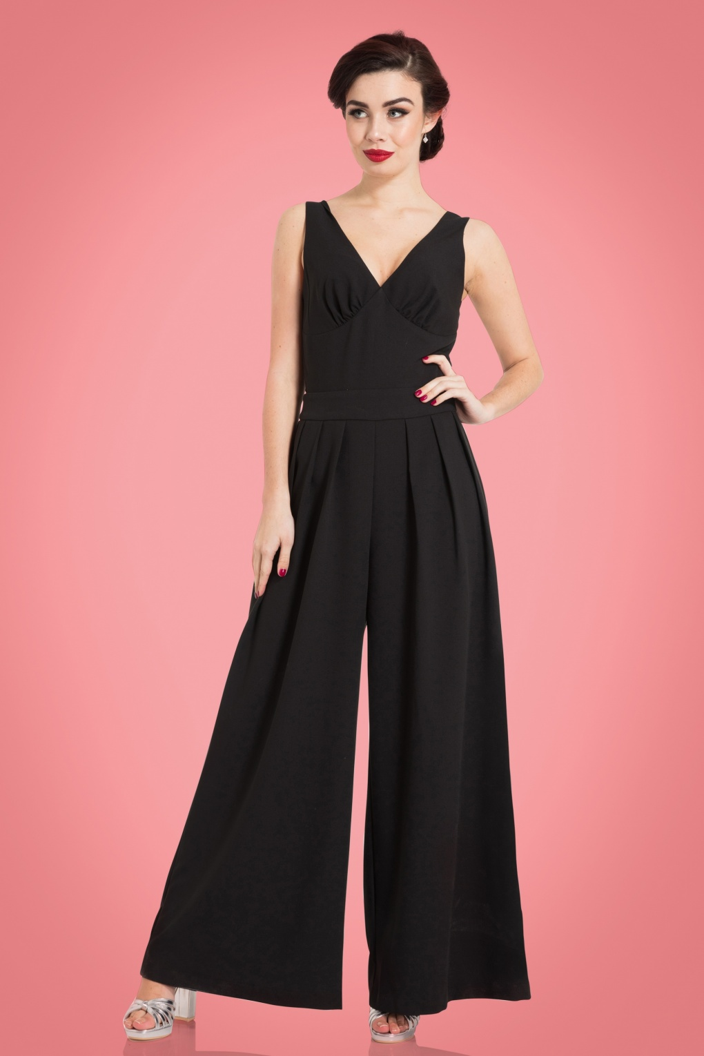 Vintage Overalls 1910s -1950s Pictures and History 50s Farah Flared Jumpsuit in Black £64.25 AT vintagedancer.com