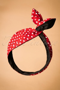 I Want Polkadots In My Hair Scarf Annäes 50 en Rouge et Noir