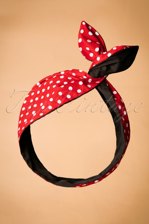 Be Bop A Hairband Polka Red Black Hairband 208 27 22154 23082017 002W