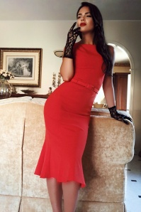 Vintage Diva The Coco Dress in Bright Red 20590 20170227 0020