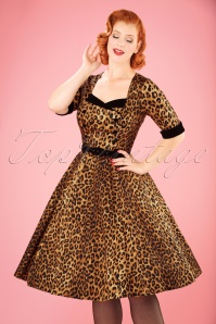 Collectif Clothing Quinn Leopard Print Doll Dress 21836 20170613 0013W