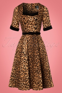 Collectif Clothing Quinn Leopard Print Doll Dress 21836 20170613 0012W