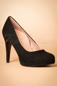 Tamaris Heart & Sole Collection Pump in Black 400 10 21526 20170828 0004w