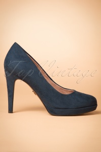 Tamaris Heart & Sole Collection Pump in Navy 400 31 21527 20170828 0007w