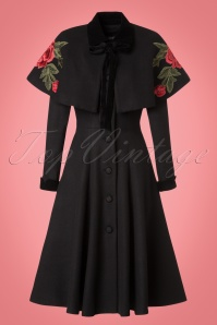 Collectif Clothing Claudia Coat and Cape in Black 21766 20170614 0002 1W