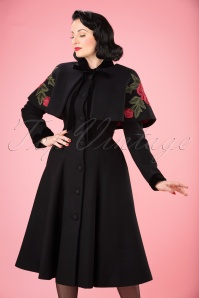 Collectif Clothing Claudia Coat and Cape in Black 21766 20170614 001W