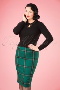 Collectif Clothing Polly Everygreen Skirt 21909 20170602 0009W