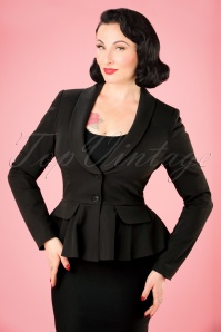 Collectif Clothing Meryl Suit Jacket in Black 21762 20170615 0014W