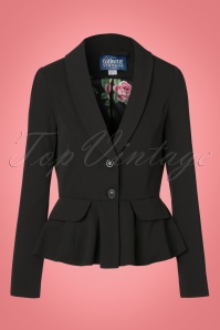 Collectif Clothing Meryl Suit Jacket in Black 21762 20170615 0003W