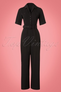40s Zoe Jumpsuit in Black