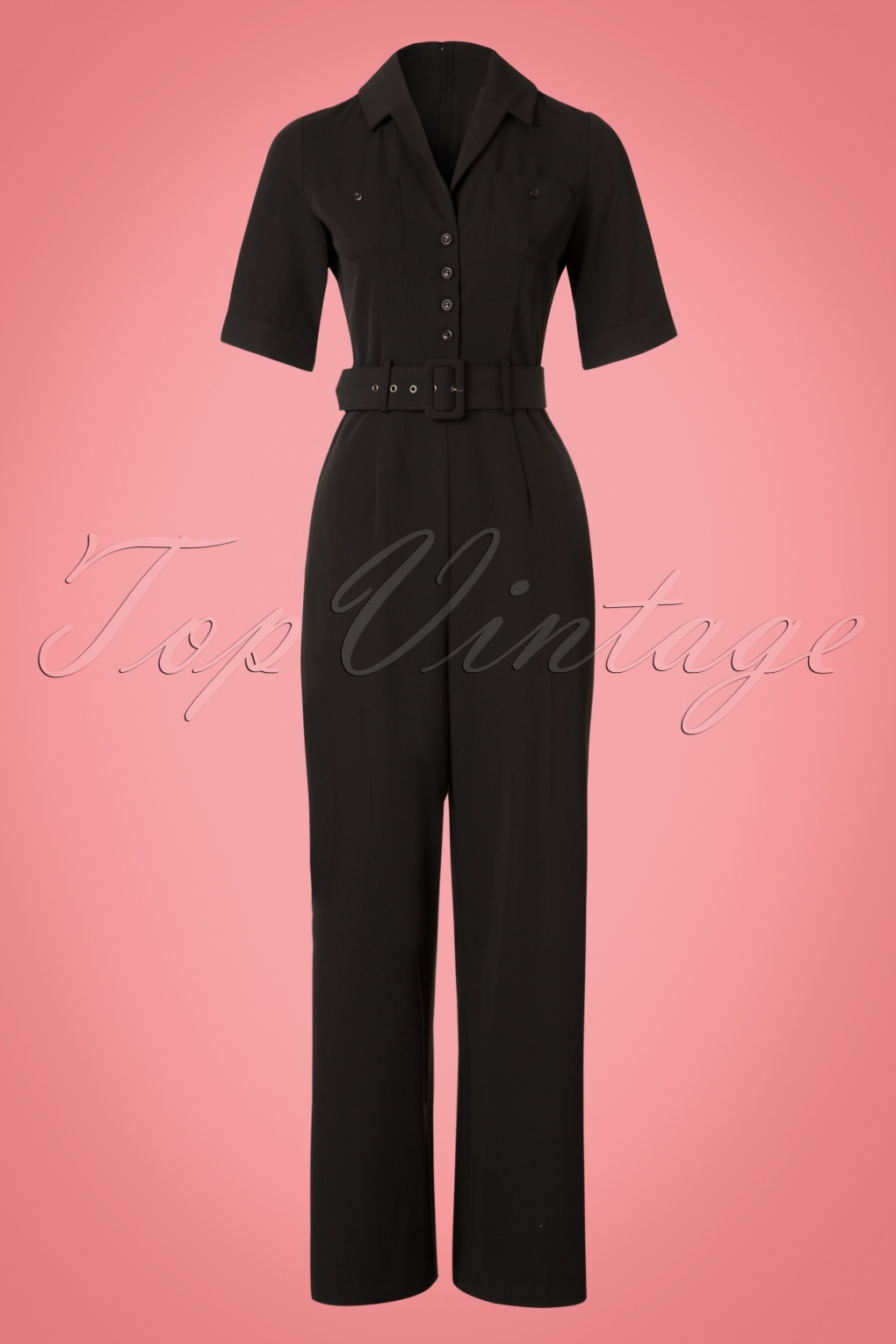 Vintage Overalls 1910s -1950s Pictures and History 40s Zoe Jumpsuit in Black £82.62 AT vintagedancer.com