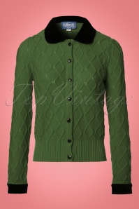 Collectif Clothing Imogen Cardigan in Green 21782 20170609 0002W