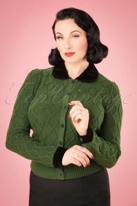 Collectif Clothing Imogen Cardigan in Green 21782 20170609 0001W
