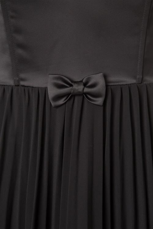50s Melissa Swing Dress in Black