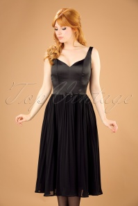 50s Melissa Swing Dress in Black