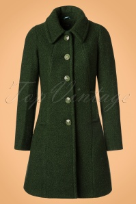 60s Laura Veggie Coat in Forest Green
