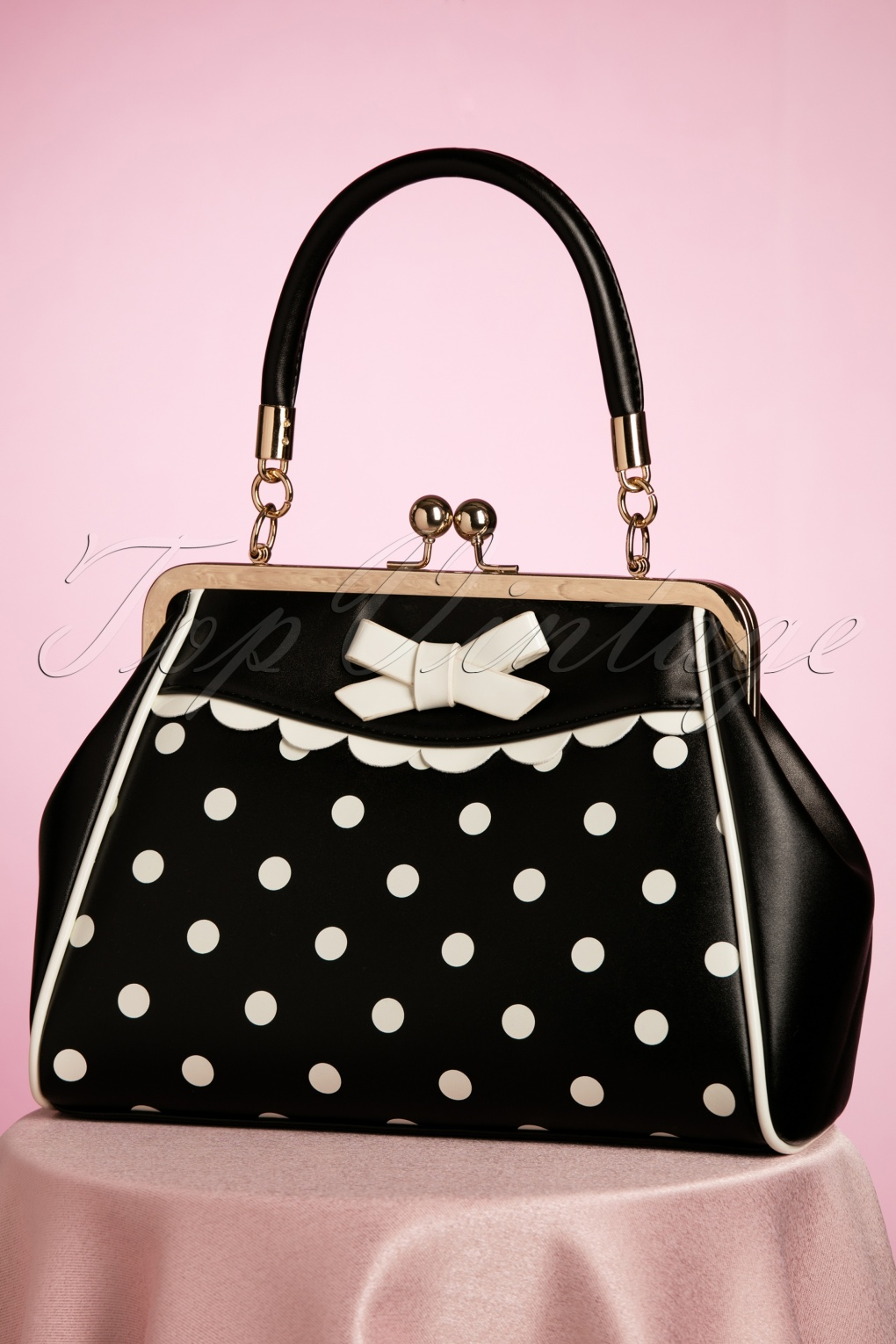 1950s Handbags, Purses, and Evening Bag Styles 50s Crazy Little Thing Bag in Black �35.87 AT vintagedancer.com