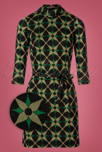 King Louie Dita Dress Kaleido Gold and Green 100 14 21346 20170830 0001wv