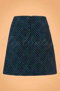 King Louie Olivia Skirt in Black and Blue 123 14 21337 20170830 0006W