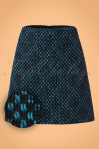 King Louie Olivia Skirt in Black and Blue 123 14 21337 20170830 0001W1