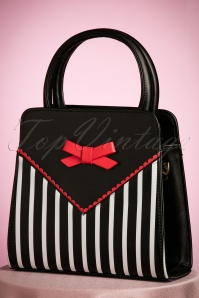 Dancing Days by Banned Vrtual Black white striped bag 212 14 22251 30082017 003W