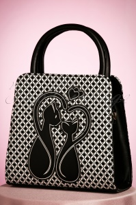50s Godiva Handbag in Black and White