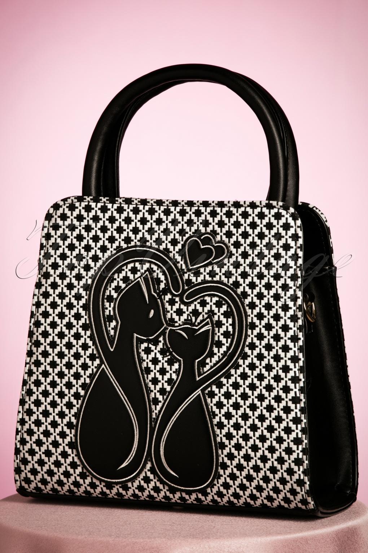 Vintage & Retro Handbags, Purses, Wallets, Bags 50s Godiva Handbag in Black and White £31.92 AT vintagedancer.com