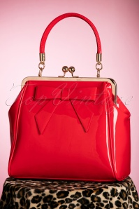 Banned Retro 50s American Vintage Patent Bag in Red