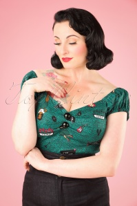Collectif Clothing Dolores Vegas Vamp Top 21950 20170607 0009W
