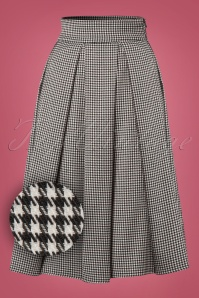 50s Izzy Swing Skirt in Black and White