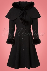 Collectif Clothing Adelita Coat and Cape in Black 21714 20170612 0019W