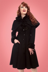 Collectif Clothing Adelita Coat and Cape in Black 21714 20170612 01
