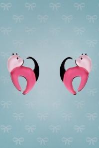 TopVintage Exclusive ~ 60s Cat Walk Stud Earrings