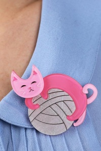 Erstwilder Natural Predator Cat Brooch Pink Box 340 22 23031 4
