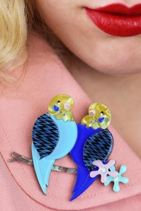 Erstwilder Best Budgies Bird Brooch Blue Box 340 30 23033 3