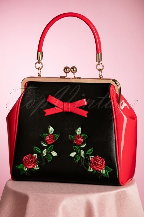 50s Fantasy Handbag in Red and Black