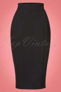 Collectif Clothing Magda Skirt in Black 21882 20170606 0004W