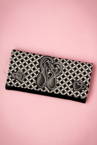 50s Godiva Wallet in Black and White