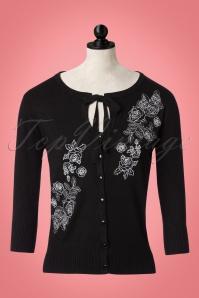 50s Delilah Cardigan in Black
