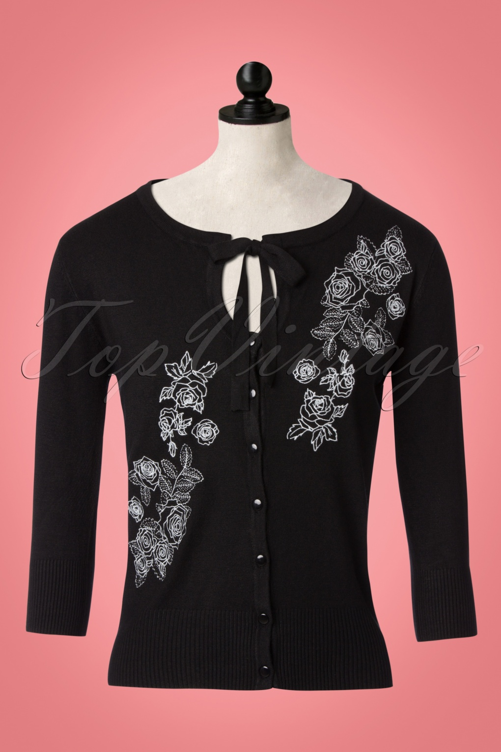 1950s Style Sweaters, Crop Cardigans, Twin Sets 50s Delilah Cardigan in Black £34.24 AT vintagedancer.com